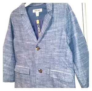 Blue Chambray Sport Coat Cherokee